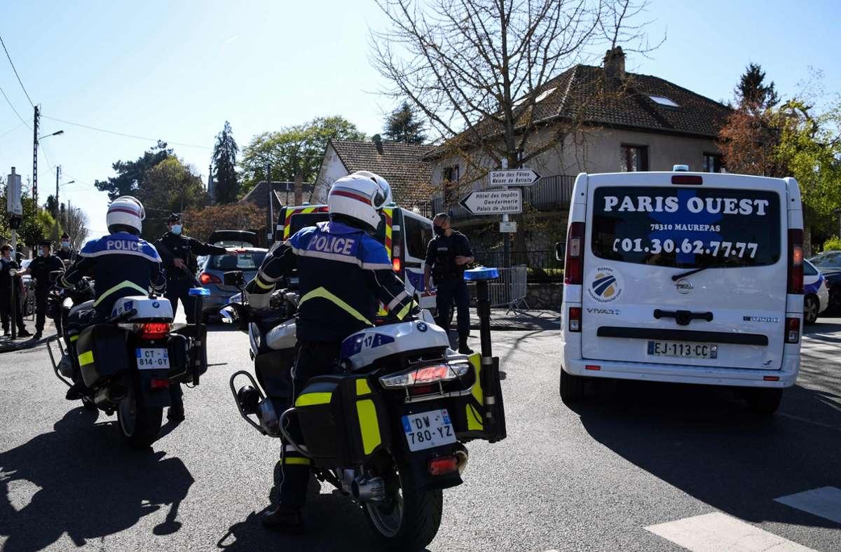 Polizei-Station  in Rambouillet. Foto: AFP/BERTRAND GUAY