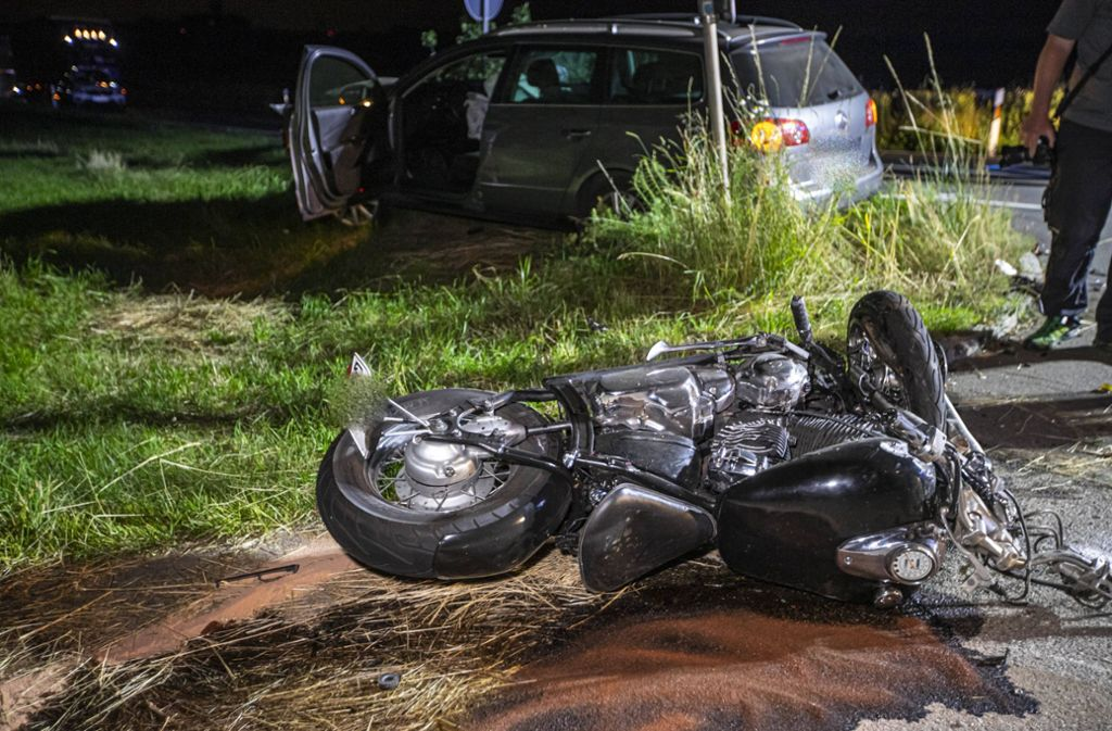 Der Motorradfahrer kam bei dem Unfall ums Leben. Foto: 7aktuell.de