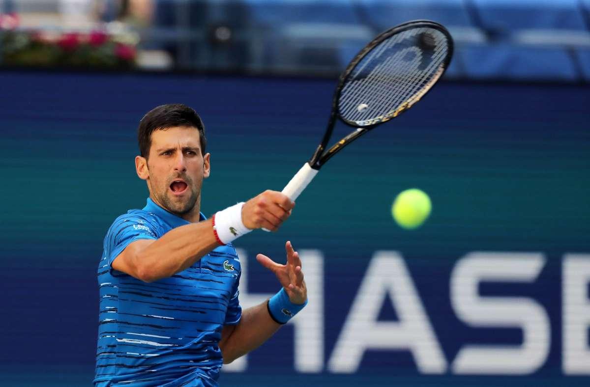 Novak Djokovic ist bei den US Open disqualifiziert worden. (Archivbild) Foto: AFP/ELSA