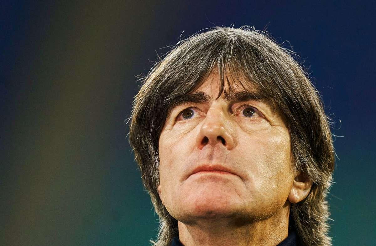 Bundestrainer Joachim Löw wirkt angeschlagen. Foto: imago/ActionPictures