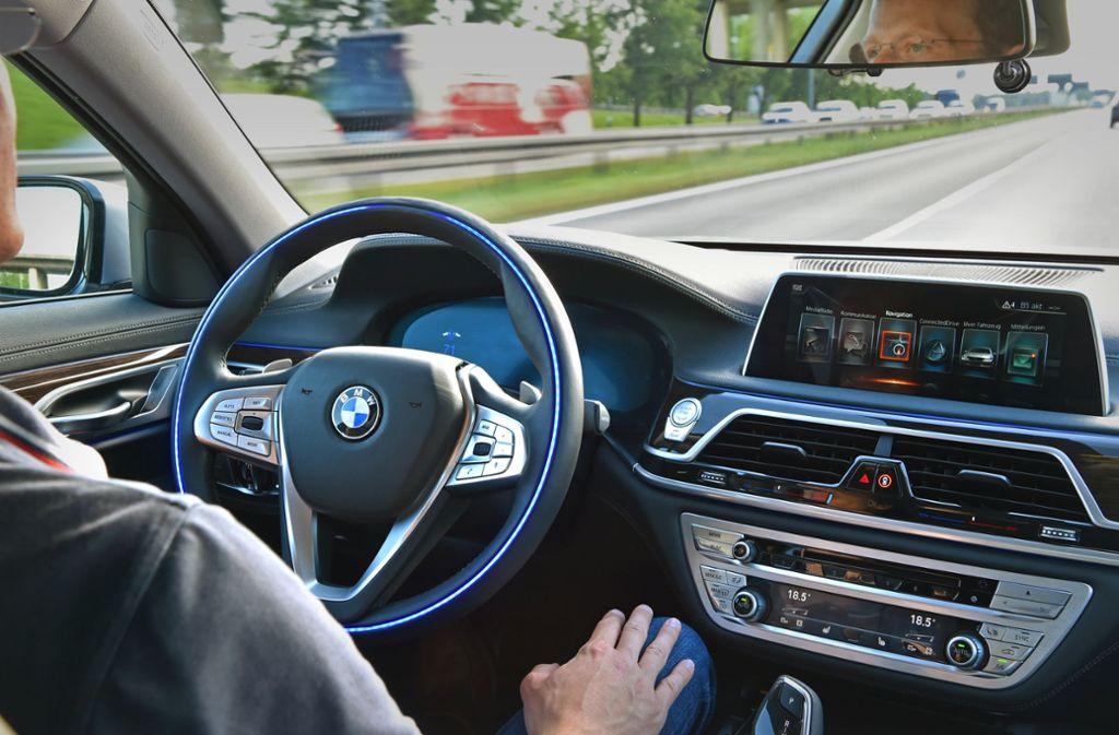BMW entwickelt mit einer ganzen Flotte von  Testfahrzeugen das autonome Fahren. Foto: BMW