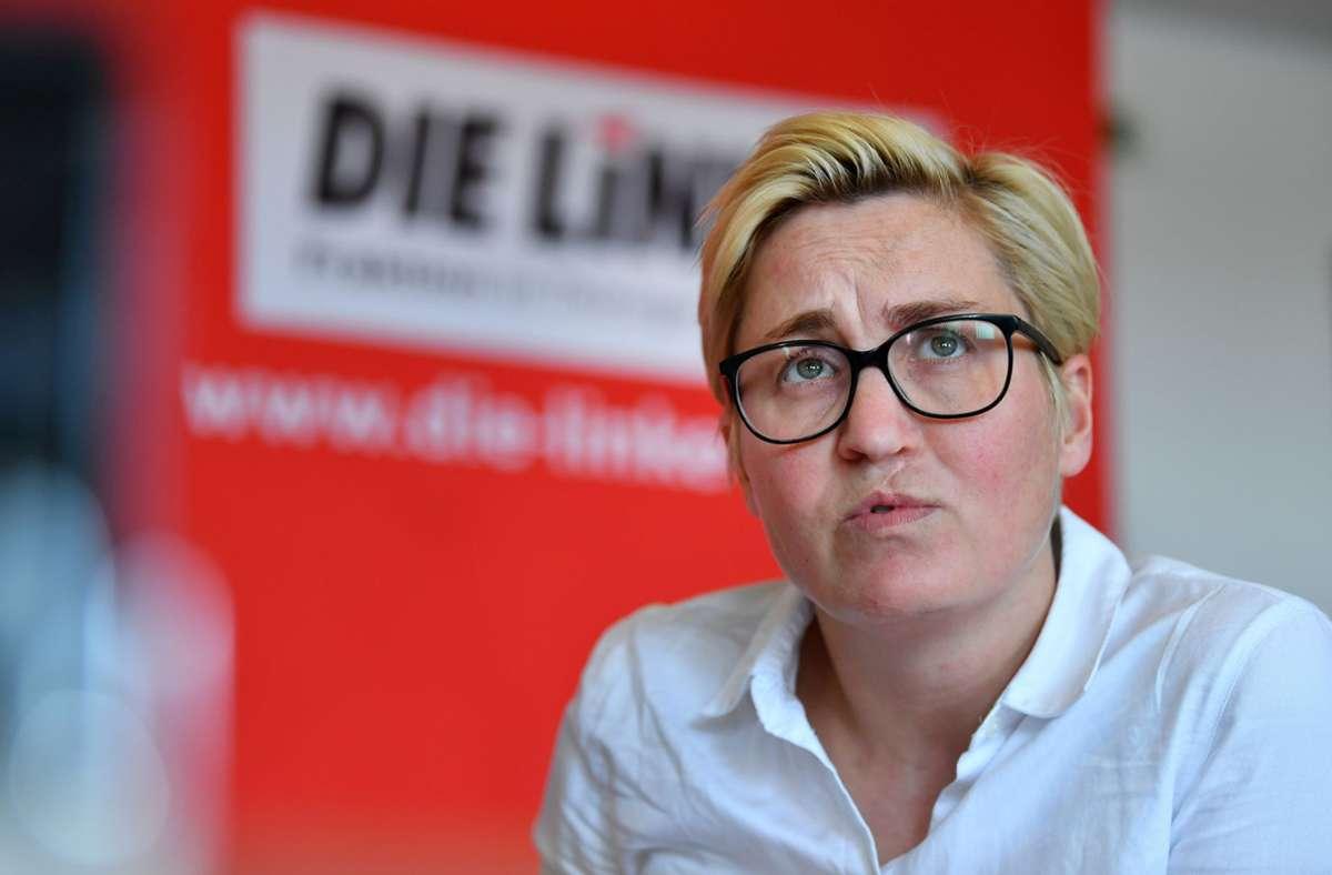 Susanne Hennig-Willsow will Bundesvorsitzende der Linken werden. Foto: dpa/Martin Schutt