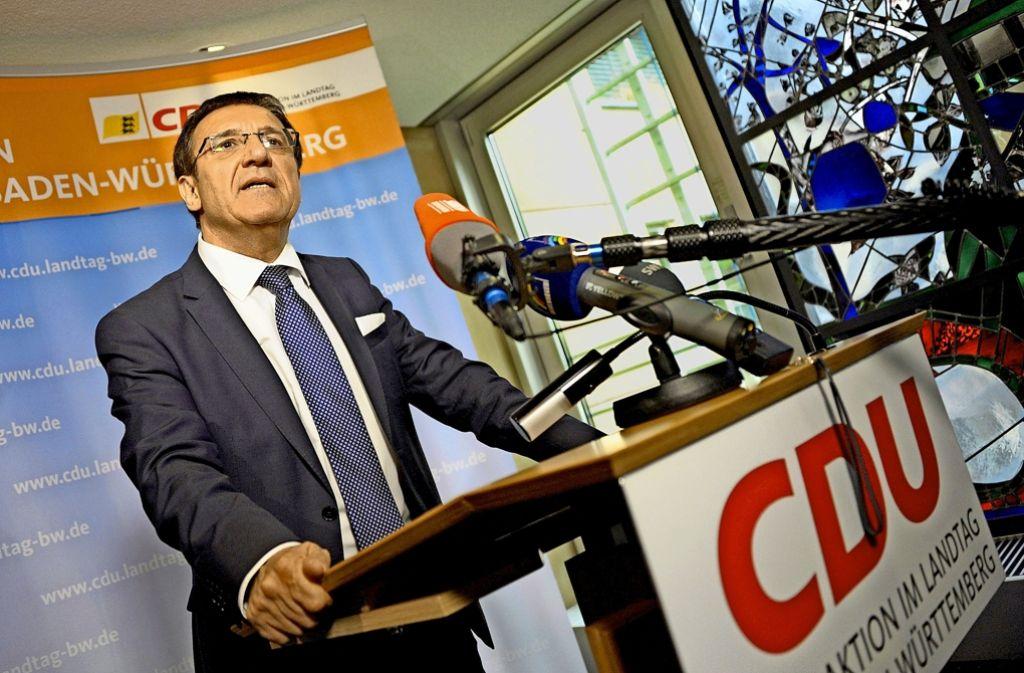 Ein Netzwerker, wie er im Buche steht: Der neue CDU-Fraktionschef Wolfgang Reinhart. Foto: dpa