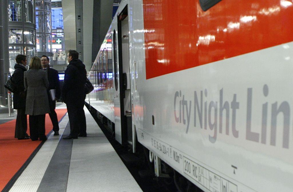 Die DB will von Dezember 2016 an keine Nachtzüge mehr fahren Foto: dpa
