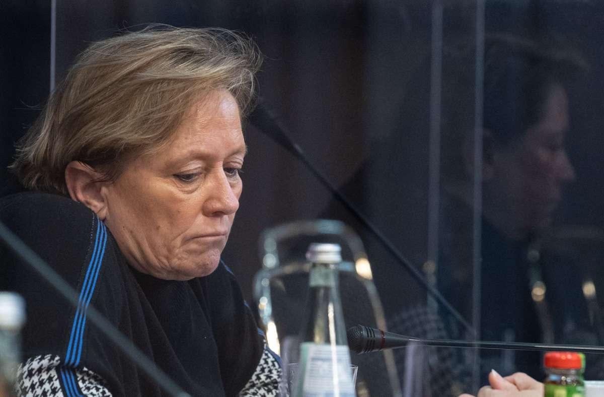 Bricht ihre Zelte auf dem politischen Terrain ab: Susanne Eisenmann. Foto: dpa/Sebastian Gollnow