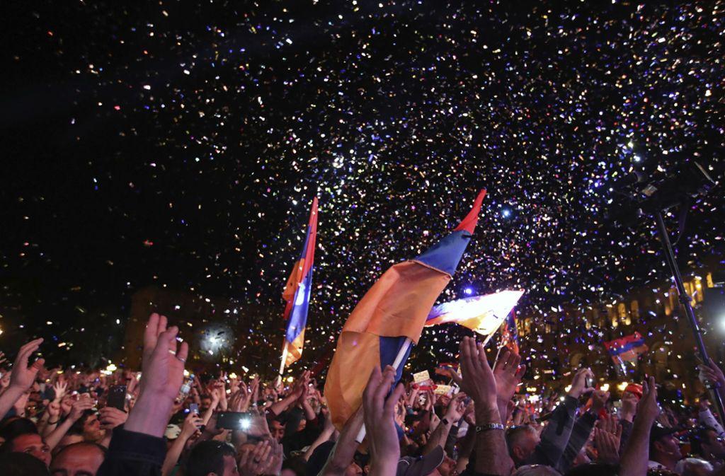 Die Protestbewegung in Armenien ist hochaktiv. Foto: AP
