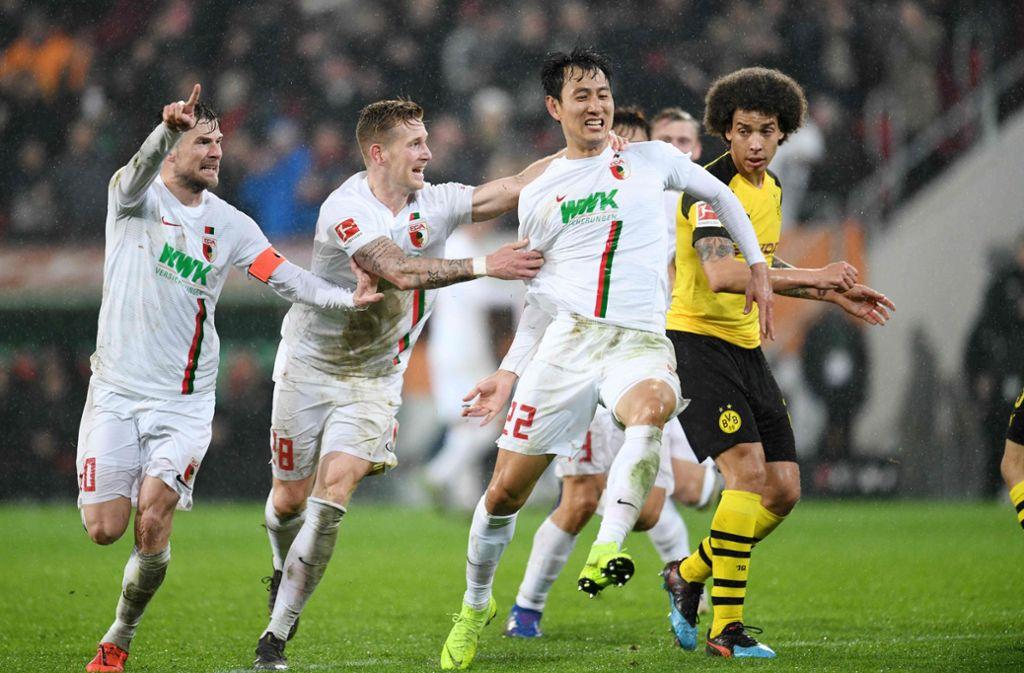 Dong-Won Ji erzielte gegen Dortmund zwei Treffer. Foto: DPA