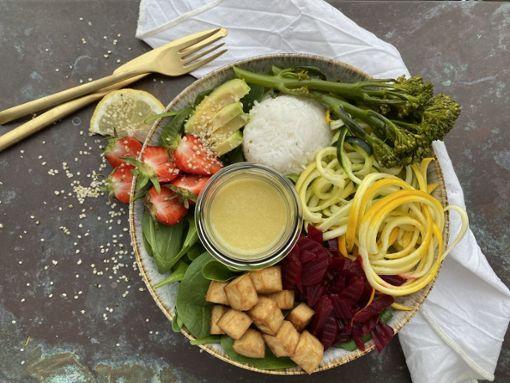 Rezept für eine vegane Sommer Bowl