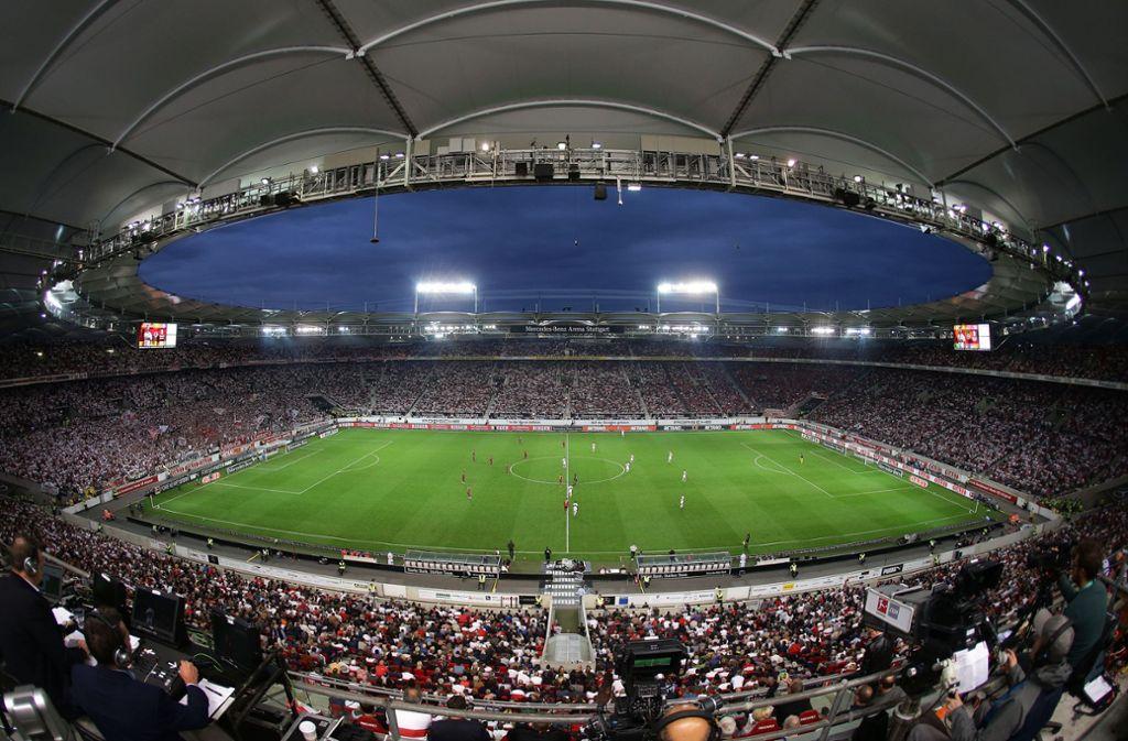Die Mercedes-Benz-Arena darf sich auf die EM 2024 freuen. Foto: Baumann
