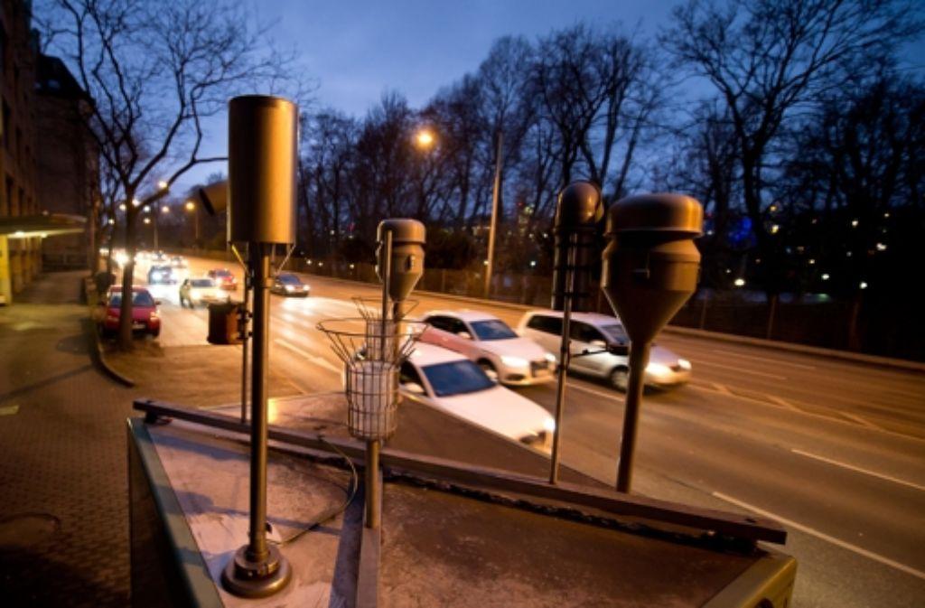 Eine Feinstaub-Messstation in Stuttgart Foto: dpa