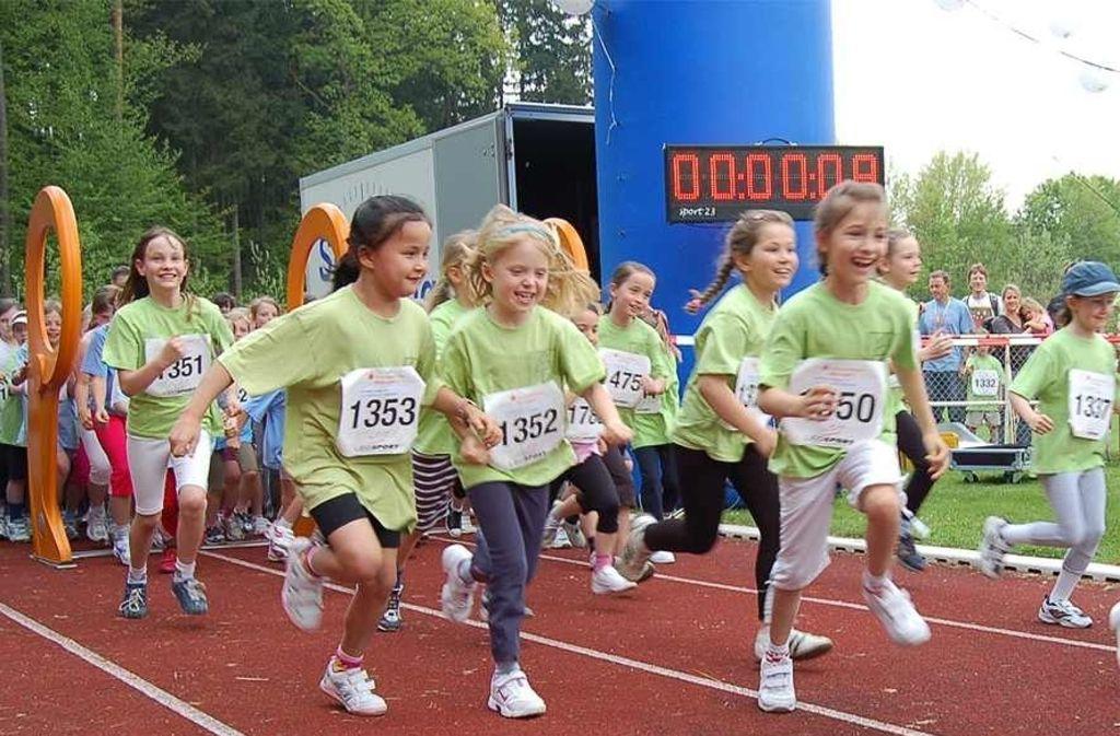 Beim Waldmeisterlauf gibt es mehrere Wettbewerbe, auch für Kinder und Schüler. Foto: Stadt Leonberg