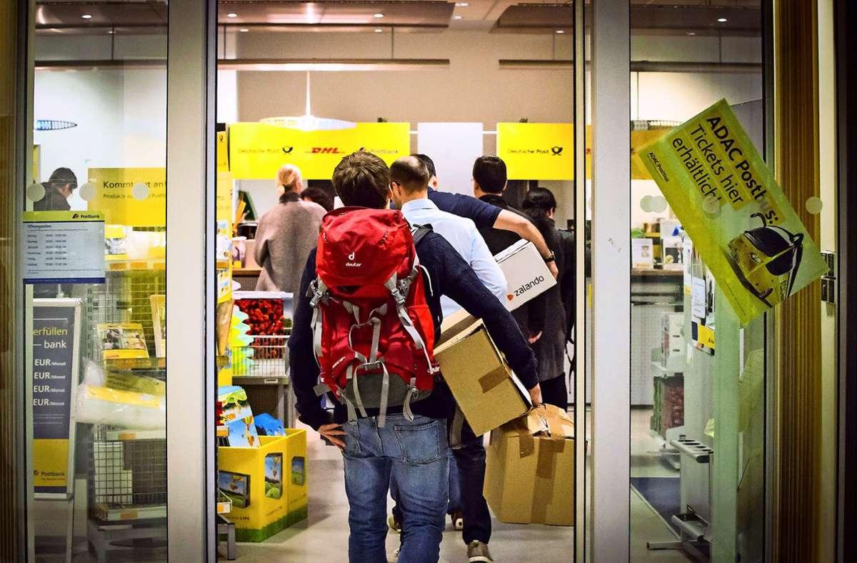 Lieber als eigene Räume sind der Deutschen Post sogenannte Partner-Filialen Foto: Lichtgut/Achim Zweygarth