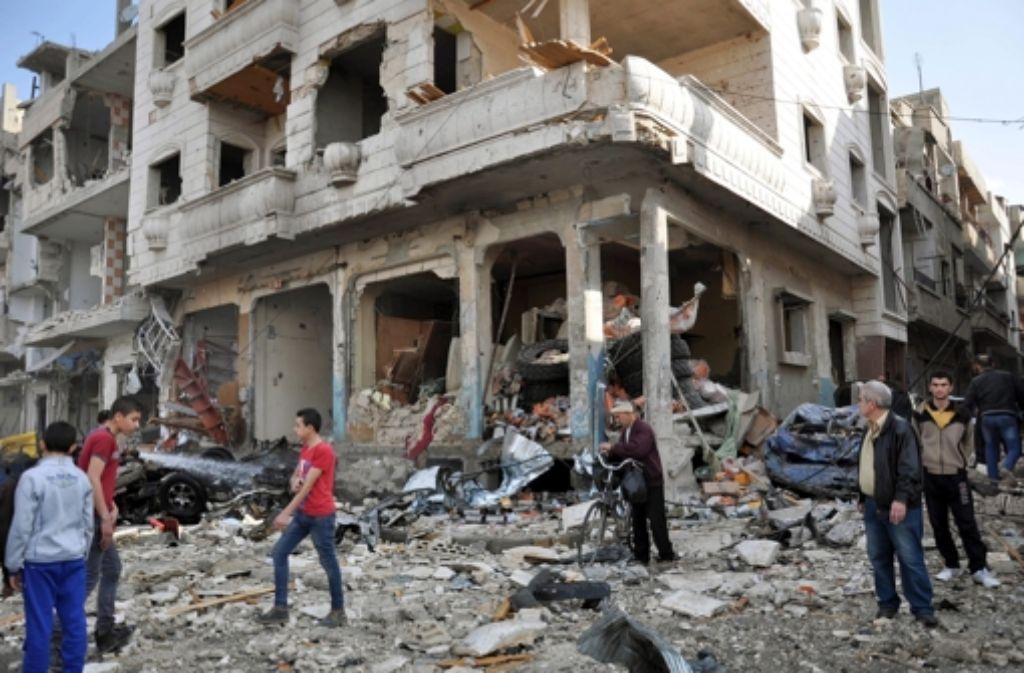 Die Waffenruhe in Syrien ist ein erster Hoffnungsschimmer. Das Land liegt in weiten Teilen in Trümmern. Foto: dpa