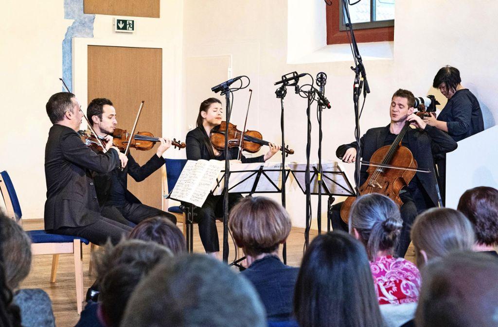 Das Quatuor Ébène begeistert das Publikum. Foto: Sabine Schreiber Fotografie