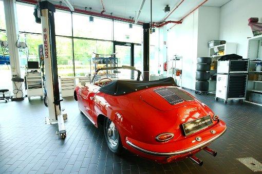 Ein Blick in Porsches Museumswerkstatt