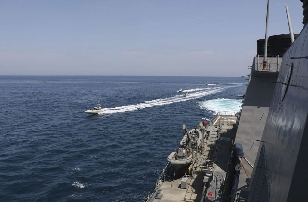 Irans Revolutionsgardenchef drohte bereits im April mit Angriffen auf US-Schiffe. Foto: dpa