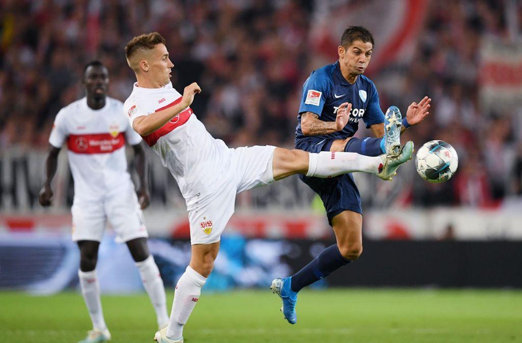 Philipp Klement vom VfB Stuttgart zeigte gegen den VfL Bochum eine ansprechende Leistung. Wir haben die VfB-Profis wie folgt bewertet. Foto: Bongarts/Getty Images