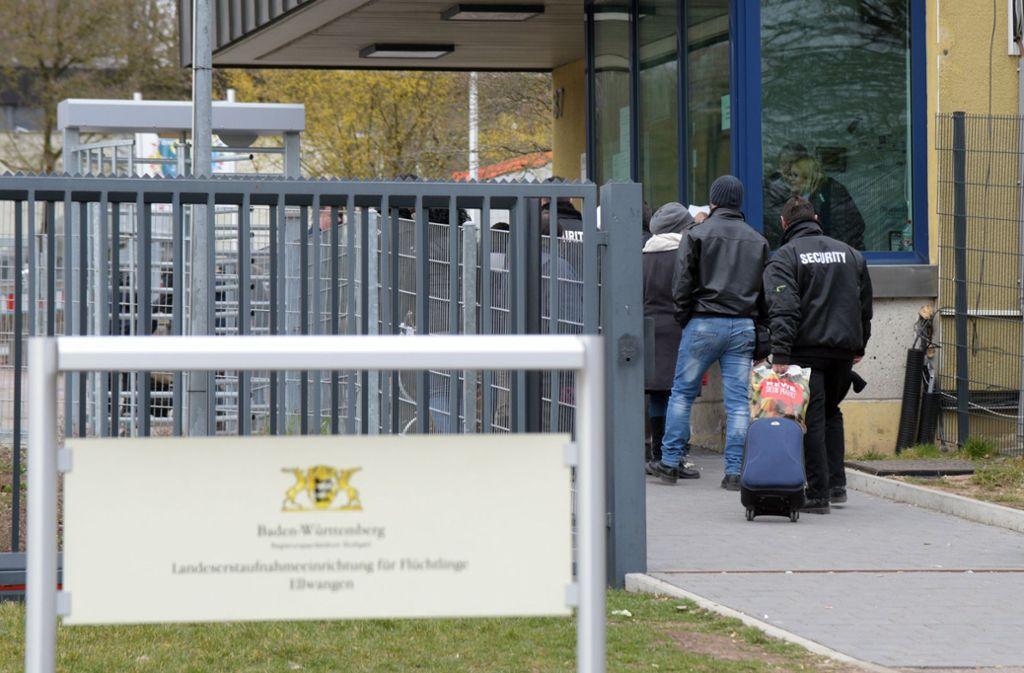 In der Erstaufnahmeeinrichtung in Ellwangen ist es zu einem Tumult gekommen. Foto: dpa