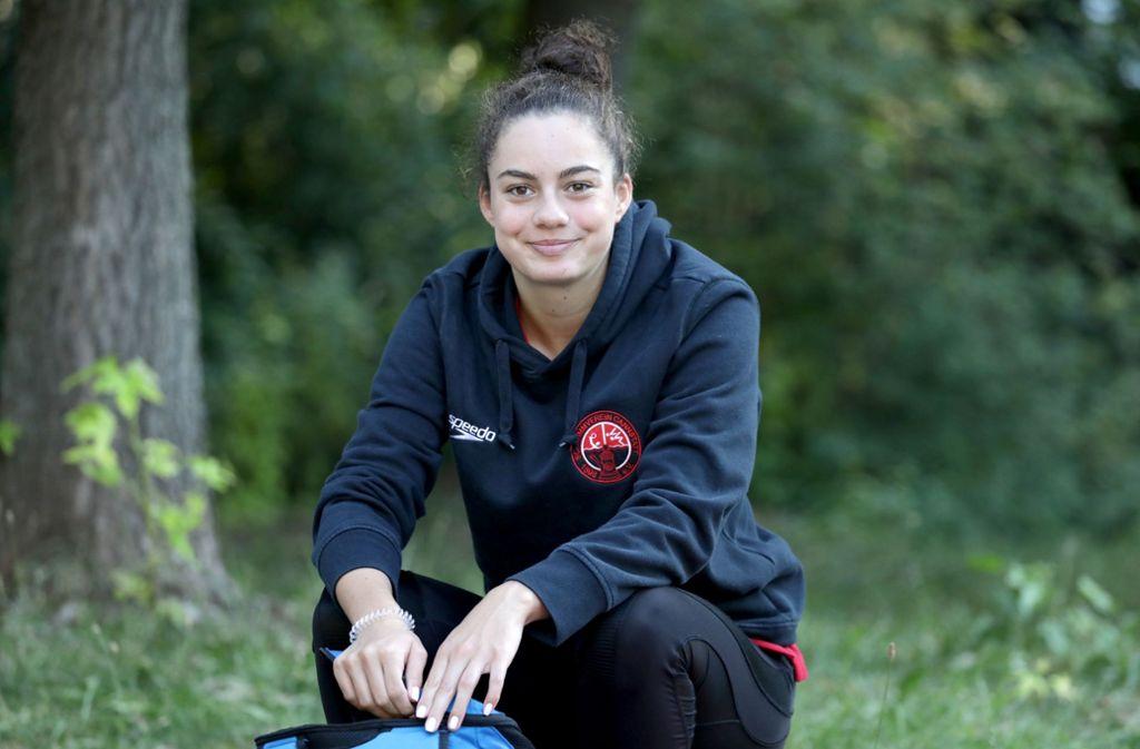 Kim Herkle fühlt sich in Berlin sehr wohl, dort gewinnt sie immer wieder bei nationalen Jugend-Titelkämpfen Medaillen. Foto: Patricia Sigerist