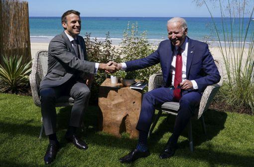 Joe Biden und Emmanuel Macron vereinbaren Treffen im Oktober