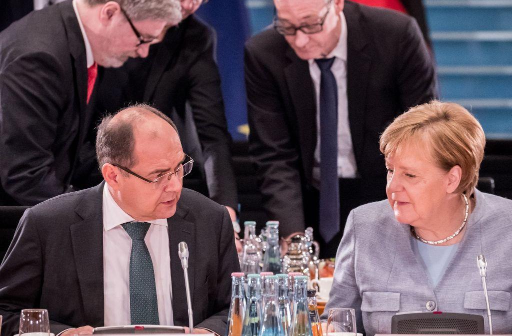 Bundeskanzlerin Angela Merkel (CDU) und Landwirtschaftsminister Christian Schmidt (CSU). Foto: dpa