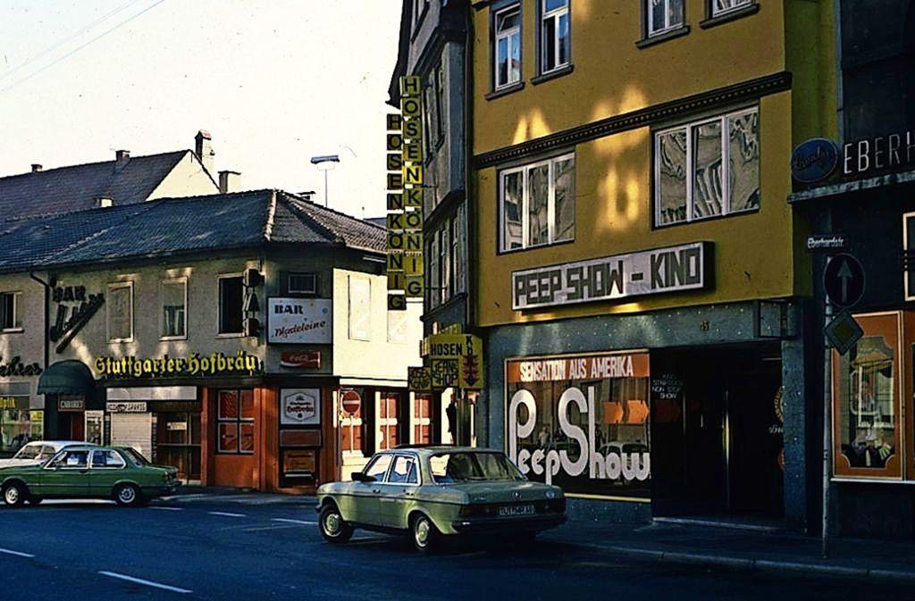 Peep-Show in den  1970er Jahren an der Eberhardhardstraße. Foto: Gerhard Goller