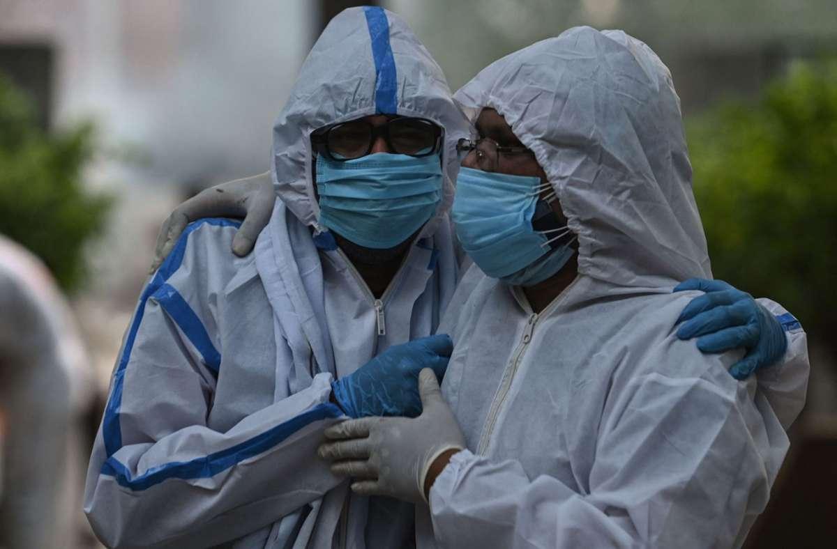 Indien ist momentan am heftigsten vom Virus betroffen. Foto: AFP/ARUN SANKAR