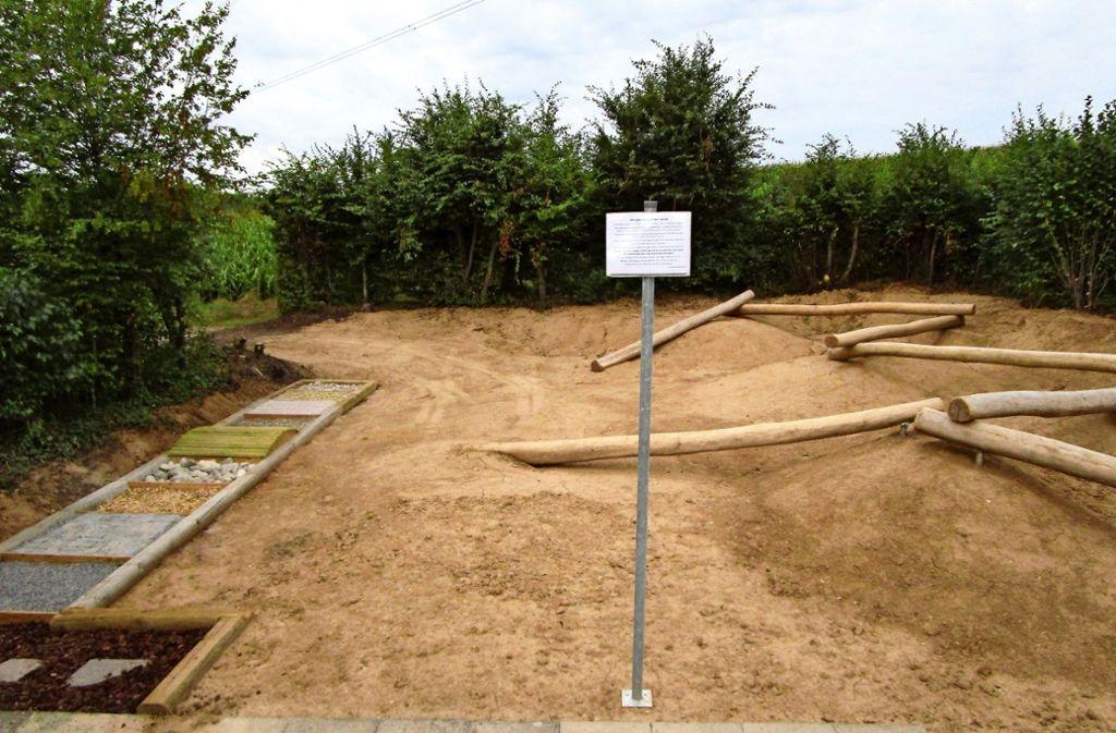 Finden die Kinder daran gefallen, bleibt der Spielplatz so erhalten. Foto: Stadtverwaltung
