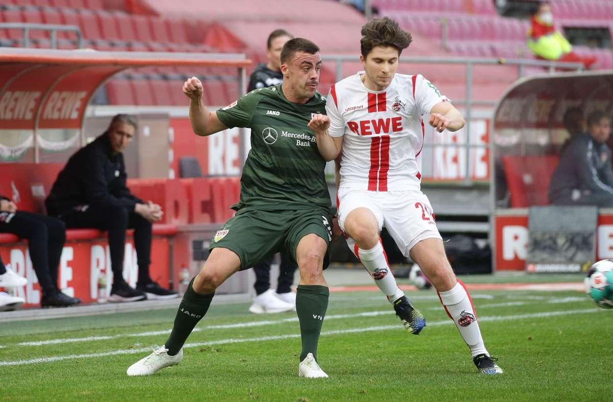 Philipp Förster (li.) ist immer einer der ersten VfB-Spieler, die nach einem Match auf Instagram posten. Foto: Baumann
