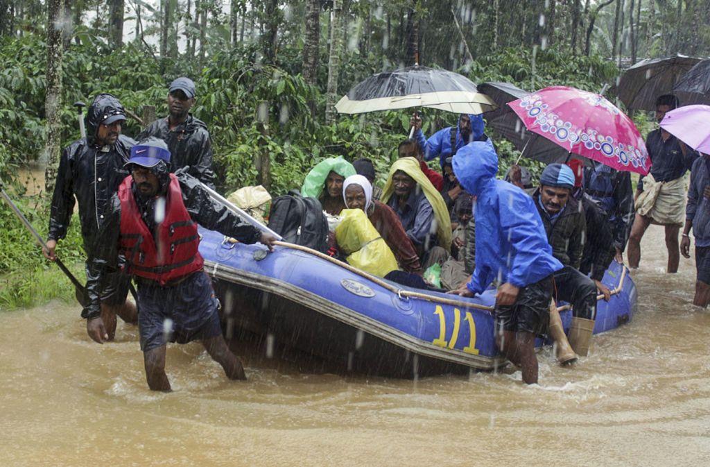 Der Monsun in Indien hat erneut katastrophale Folgen. Foto: Uncredited/AP/dpa