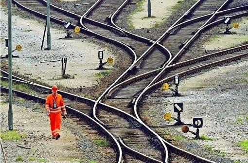 34000 Kilometer lang ist das Schienennetz der Deutschen Bahn. Vielerorts ist es sanierungsbedürftig. Foto: AP