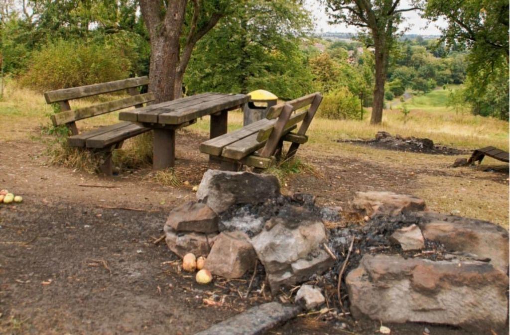 Statt gemauerter Grills gibt es im Tapachtal nur einfache, von Steinen begrenzte Feuerstelle Foto: Leonie Hemminger
