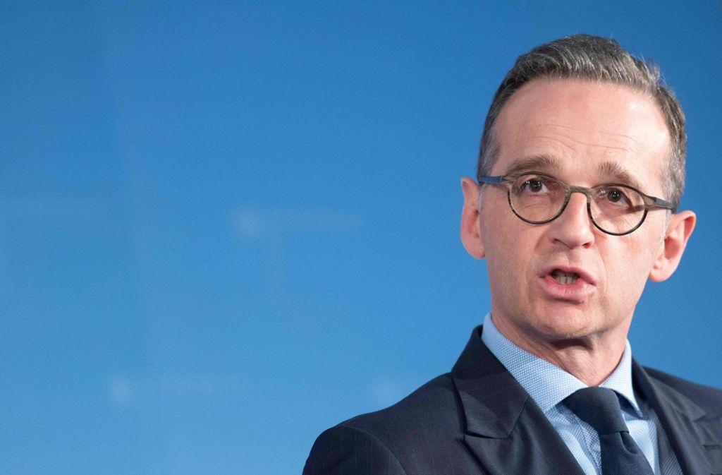 Heiko Maas hat Donald Trump im Iran-Konflikt kritisiert. Foto: AFP/PAUL ZINKEN
