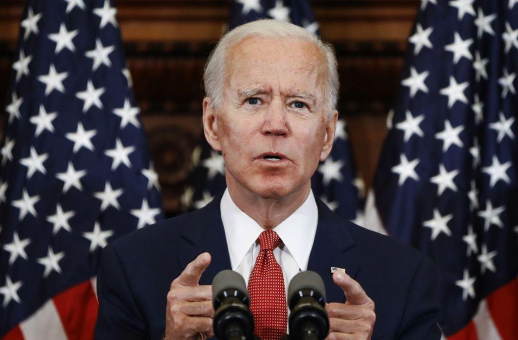 Joe Biden werde sich als Präsident darum bemühen, das Land nach den polarisierenden Jahren unter Trump zu einen. Foto: AP/Matt Rourke
