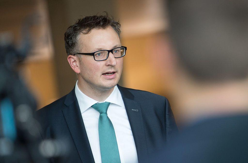 Grünen-Fraktionschef Andreas Schwarz zeigt sich zuversichtlich. Foto: dpa