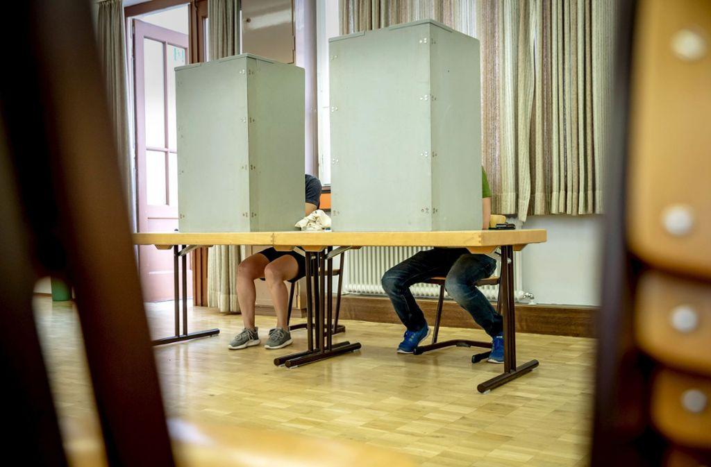 Die Qual der Wahl – drei Wahlen auf einmal. Foto: Lichtgut/Julian Rettig