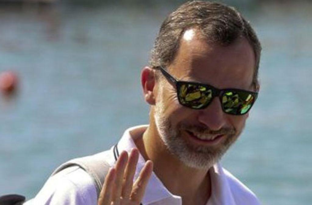 Sportlicher Monarch: König Felipe segelte bei der Königsregatta mit - und belegte nur den 22. Platz. Foto: dpa