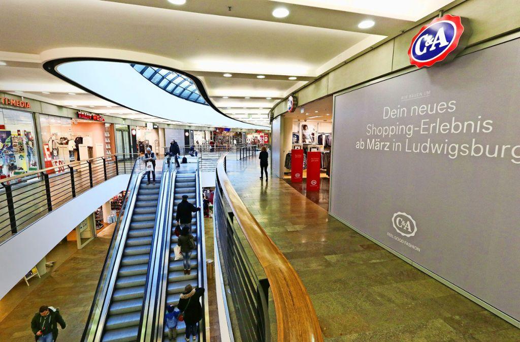 Die C&A-Filiale und andere Geschäfte in der Galerie werden umgestaltet und modernisiert. Foto: factum/Granville