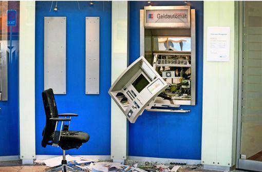 Gewalt gegen Geldautomaten