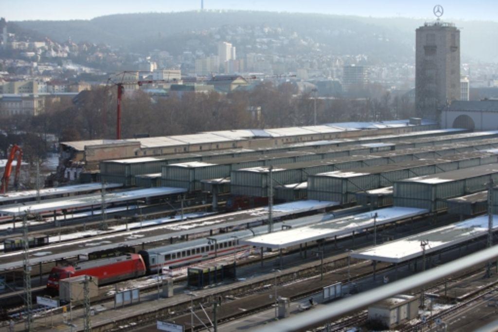 Der Stuttgarter Hauptbahnhof Ende Februar. Foto: Achim Zweygarth