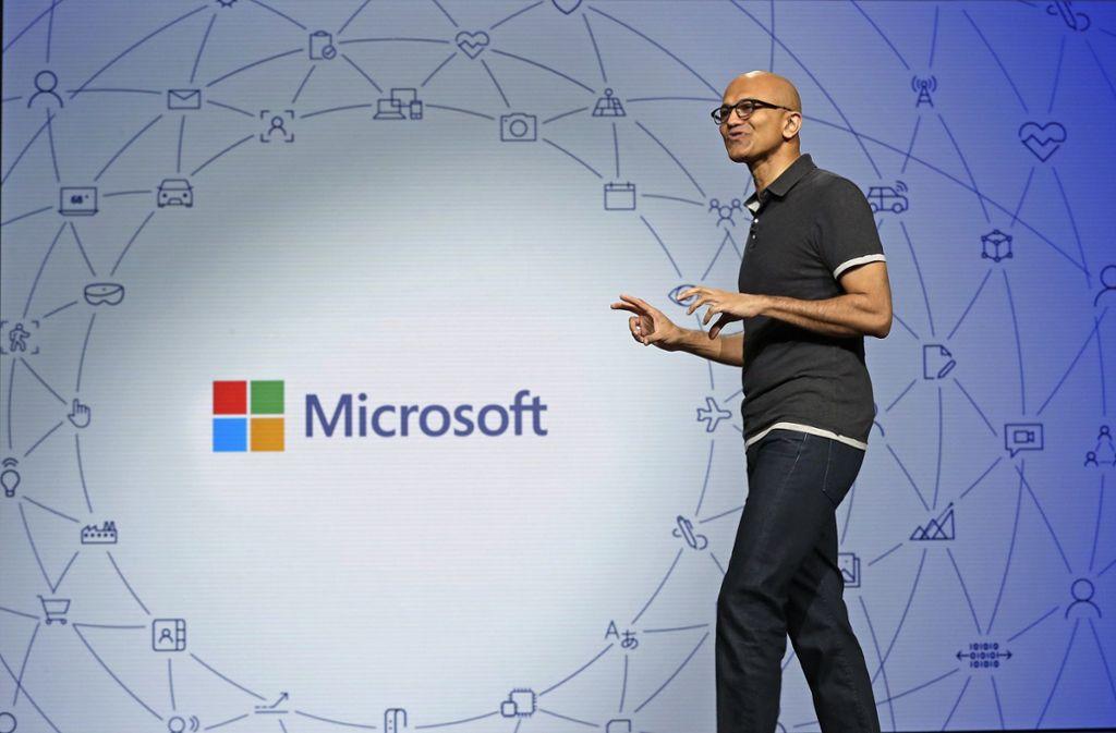 Satya Nadella ist der Vorstandsvorsitzende von Microsoft. Foto: AP