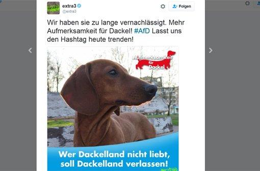 Warum unter #AfD Dackel laufen