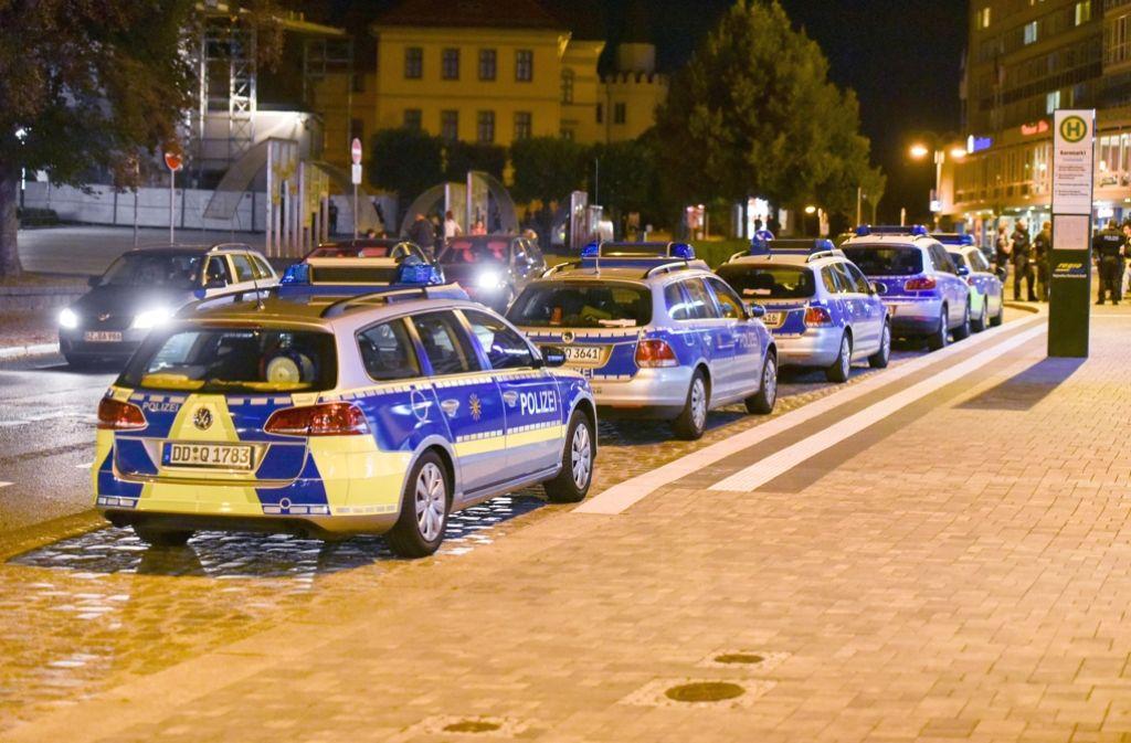 Polizeieinsatz in Bautzen: Zwischen Einheimischen und Flüchtlingen kam es zu Übergriffen. Foto: