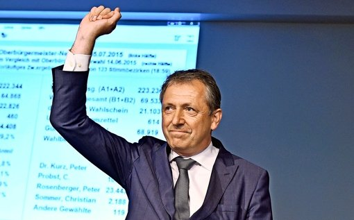 Peter  Kurz bleibt Oberbürgermeister
