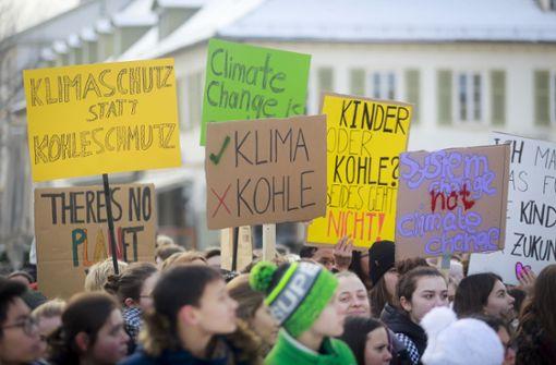 Große Demo für das  Klima in Ludwigsburg