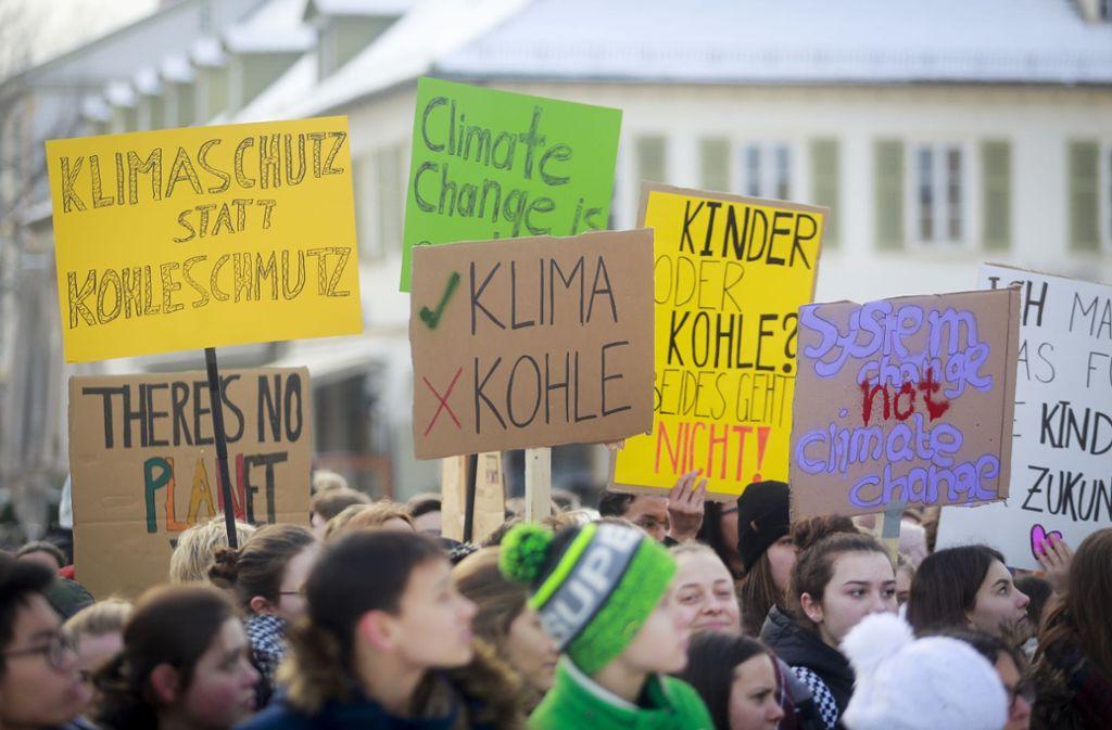 Schon  im Januar gingen die Schüler in Ludwigsburg auf die Straße. Diesmal sollen  auch Erwachsene an dem Protestmarsch teilnehmen. Foto: factum//Simon Granville