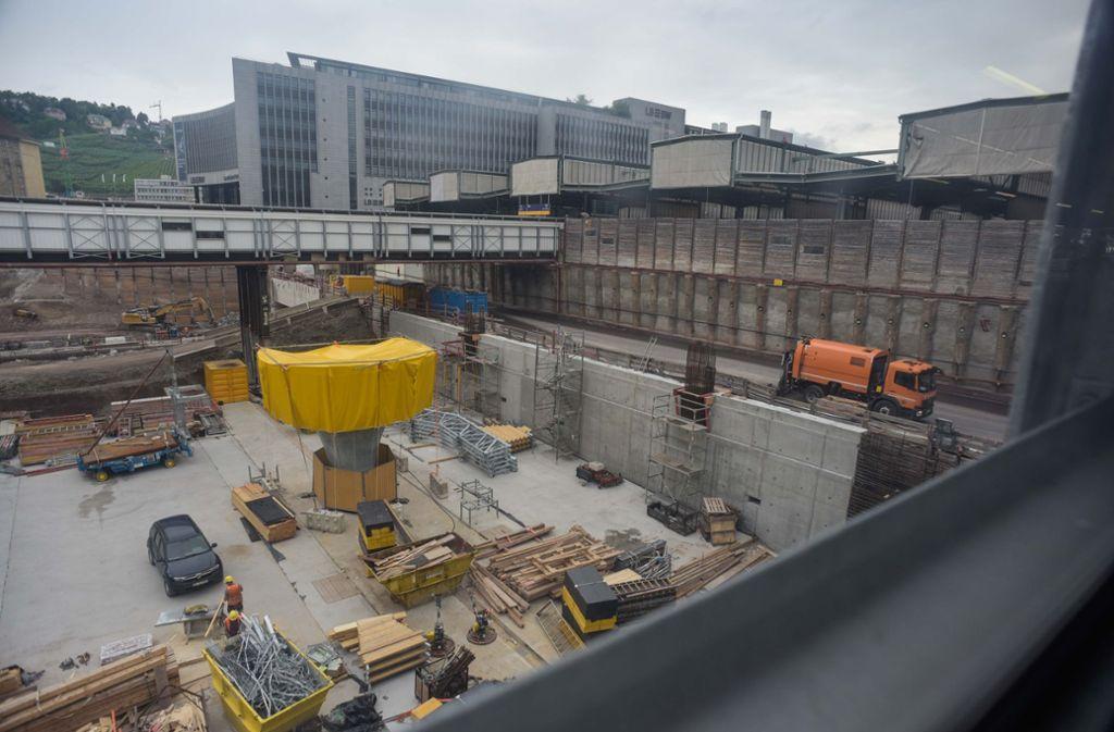Die umstrittene Baustelle am Stuttgarter Bahnhof (Archivbild). Foto: Lichtgut/Max Kovalenko