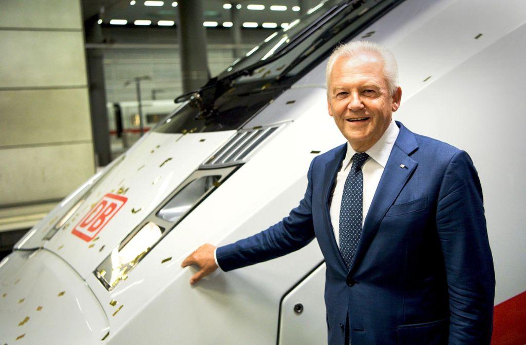Anfang 2017  hat Rüdiger Grube als Bahn-Chef hingeschmissen. Vom Staatskonzern erhielt er trotzdem ein stattliches Salär in Millionenhöhe überwiesen. Foto: dpa