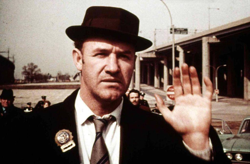 """Gene Hackman in seiner Rolle als Cop Jimmy """"Popeye"""" Doyle: Die brachte ihm den Oscar. Foto: imago/United Archives"""