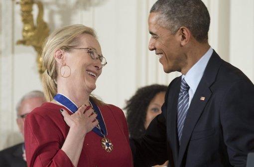 Obama ehrt Meryl Streep und Stevie Wonder